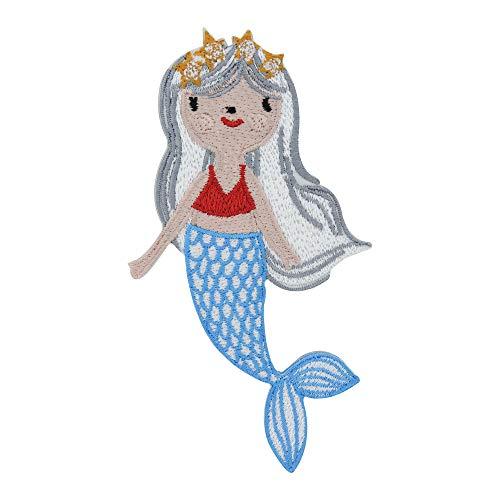 Parche termoadhesivo con diseño de sirena, para niños, niñas, de Finally Home