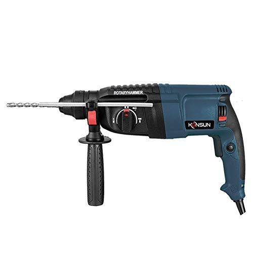 Martillo eléctrico taladro de impacto 800W 26mm herramientas eléctricas de calidad Modelo buen martillo de perforación (Color : Set 1)
