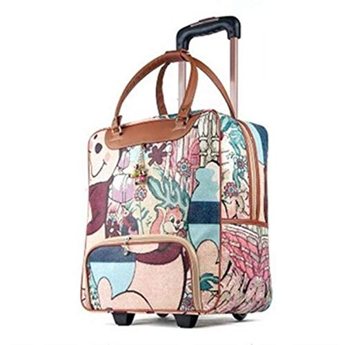 ZRR Women travel Business Boarding bag ON wheels trolley bags large capacity Travel Rolling Luggage Suitcase Bag,H