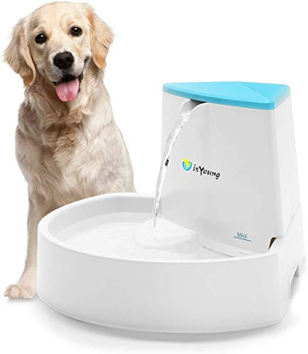 isYoung Dog Fountain, 84oz/2.5L Pet Fountain Automatic Water Dispenser for...