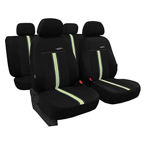 Juego de 3 fundas para asientos de coche universales de piel sintética beige con airbag, para asientos delanteros y traseros, 1 + 1 asiento delantero y 1 banco trasero divisible 2 cremalleras