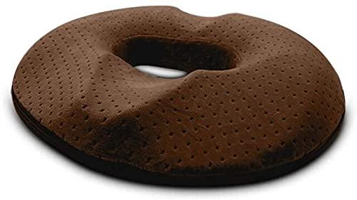 Donut Zitkussen, Orthopedisch Aambei Kussen, Ergonomisch Anti Decubitus Kussen, voor Auto Auto Bureaustoel Rolstoel, 44cm x 41cm-brown