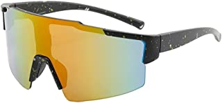 QWKLNRA - Gafas De Sol para Hombre Lente Amarilla De Marco Negro Polarised Sports Sunglasses Gafas De Sol Deportivas Deportivas Road Bicycle Glasses Mountain Cycling Protection Gafas De Sol