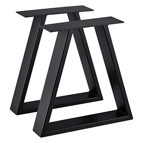 [en.casa] 2X Tischgestell 40x10x40 cm im 2er Set Stahl Metallgestell Schwarz