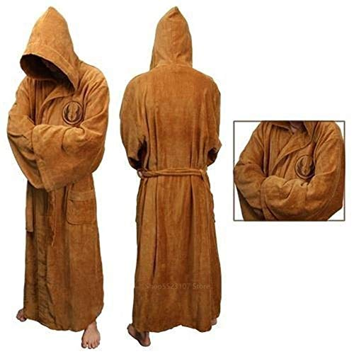 Star Wars Anime Robes Ropa de Dormir Disfraz de Cosplay para Hombres Adultos Jedi Knight Anakin Disguise May The Force Be with You-Beige, M