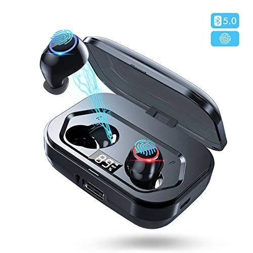 Bluetooth Kopfhörer in Ear 5.0 Kopfhörer Kabellos für Sport mit Mikrofon,IPX7 Wasserdicht 140H Spielzeit Bluetooth Kopfhörer mit CVC8.0 Rauschunterdrückung und Kann das Handy Aufladen