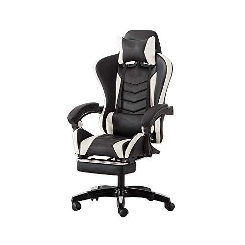N/Z Daily Equipment Chair Drehstuhl Racing Chair Gaming Chair mit hoher Rückenlehne Verstellbarer Bürostuhl mit Fußstütze Computerstuhl mit Kopfstütze und Lordosenstütze Multi Color Optional Orange