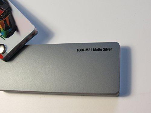 3M (28,19€/m2) Scotchprint Wrap Film Series 1080 Matt Silber gegossene Autofolie 100 x 152 cm Zuschnitt