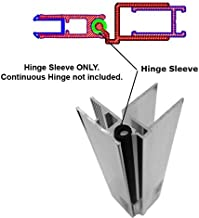 Hinge Sleeve for Shower Doors with Continuous Hinge - 64
