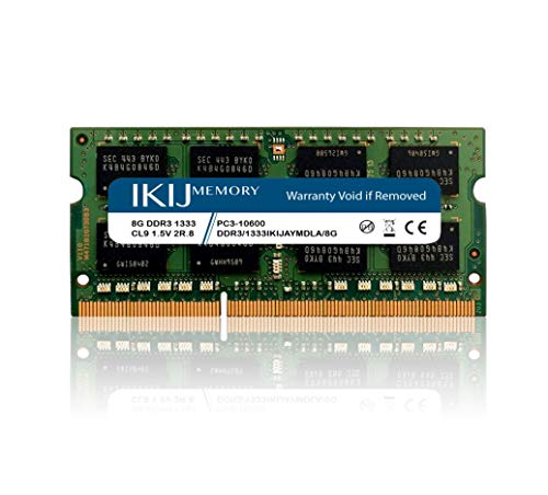 IKIJMEMORY Compatible with iMac,Mac Mini PRO Laptop DDR3 1333MHz PC3-10600 Non-ECC 1.5V CL9 2RX8 Dual Rank,204Pin SODIMM Laptop Memory (8GB)