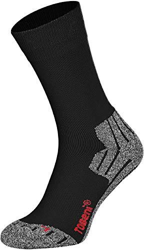 Tobeni 2 Paires Hightech Sports Chaussettes Trekking Randonnee Fonctionnelles pour les Homme Couleur Noir Taille 47-50