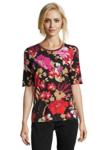 Betty Barclay 4711/0567 T-Shirt, Multicolore (Black/Red 9840), 42 (Taglia Produttore: 36) Donna