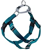 2 Hounds Design Freedom No Pull Dog Harness | Adjustable Gentle Comfortable Control for Easy Dog Walking |for Small Medium and Large Dogs | Made in USA | 1' MD Teal