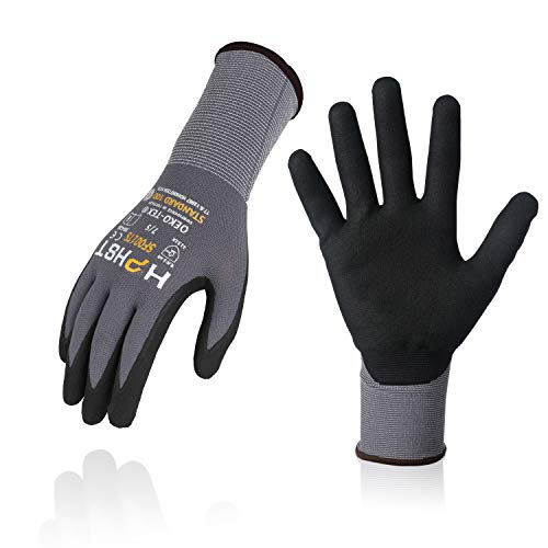 Arbeitshandschuhe - HPHST SF001TS Handschuhe 12 Paar Montagehandschuhe für Damen und Herren Gloves Ergonomisches Design Smart Touch Gartenhandschuhe Größe 9/L