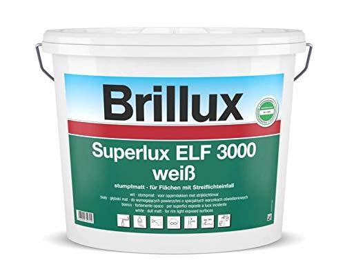 Brillux 10 L. Superlux ELF 3000 Weiß stumpfmatt, hochwertige, sehr gut deckende Innendispersion mit langer Offenzeit