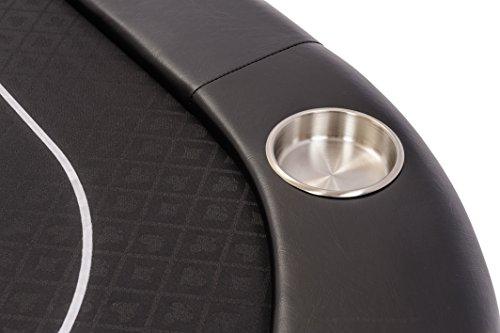 Riverboat Faltbare Pokerauflage mit Schwarzem wasserabweisenden Stoff und Tasche – Pokertisch 200cm - 7