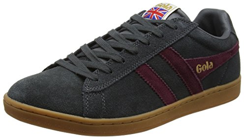 Gola Equipe Suede, Sneaker Uomo, Grigio (Graphite/Burgundy/Gum), 42 EU