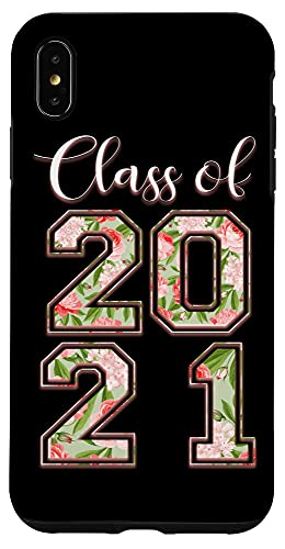 iPhone XS Max High School Class Of 2021 Floral Tee Senior Graduate Case