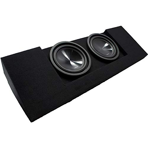 """Compatible with 2015 2016 2017 2018 2019 Chevy Colorado Crew Cab Truck Dual 10"""" Alpine SWT-10S4 Car Audio Subwoofers Custom Sub Box Enclosure Package New"""