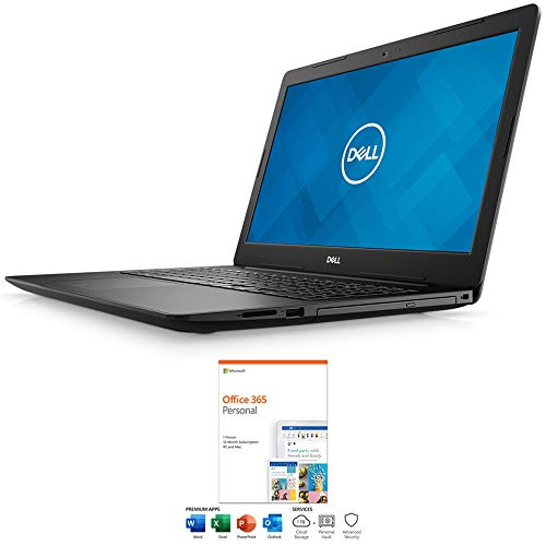 Dell i3580-5127BLK Inspiron 3000 15 3580 15.6 inch Notebook i5 8265U 8GB 1TB Black Bundle with Microsoft Office 365 Personal 1-Year Subscription for 1 Person