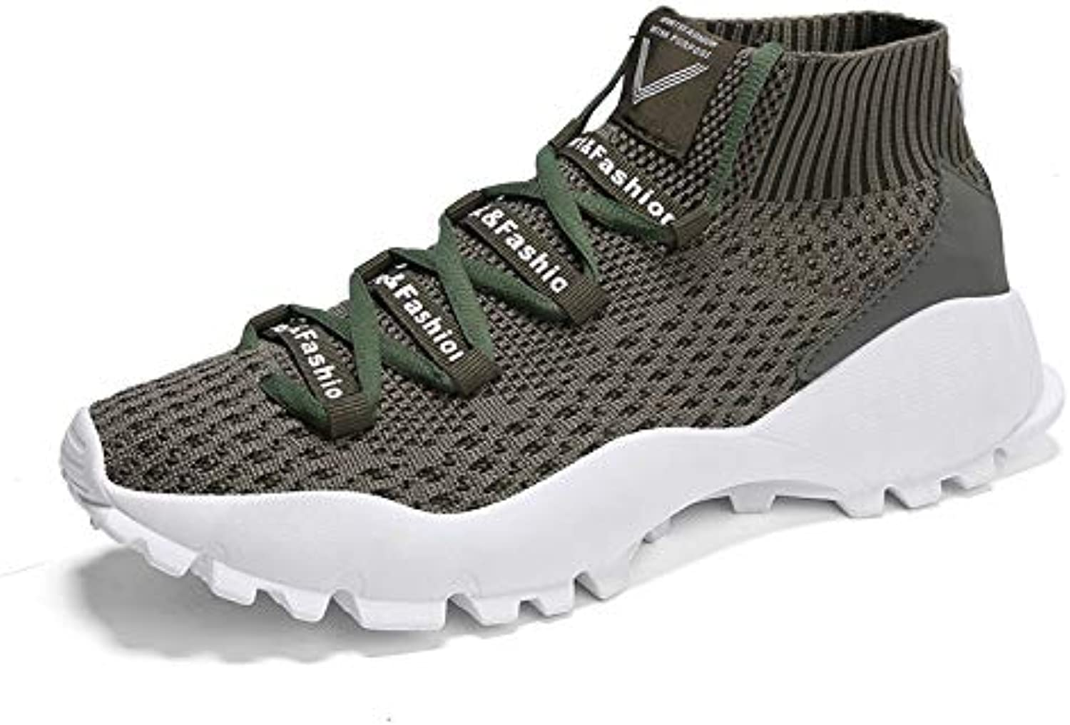 LOVDRAM Casual shoes, Breathable Men'S shoes, Flying Woven Sports shoes, Breathable And Comfortable Men'S shoes, Wild Travel