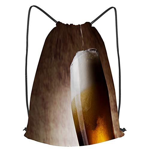 YMWEI Impermeable Bolsa de Cuerdas Saco de Gimnasio Cerveza en vaso sobre...