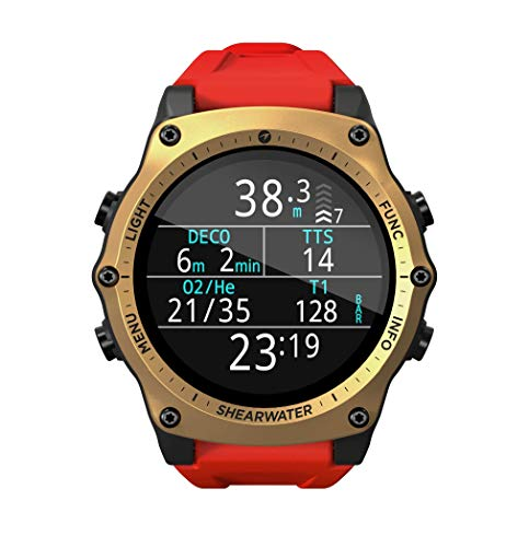 Shearwater Research Limited Edition Teric Wrist Dive Computer (Gold) 4
