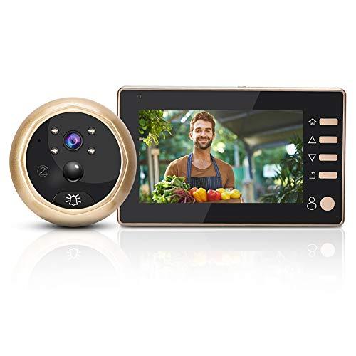 Mirilla para Mirilla, cámara de Seguridad con Timbre Digital con Pantalla LCD TFT de 4,3, detección de Movimiento, grabación de Disparos, visión Nocturna para Hotel de Oficina en casa