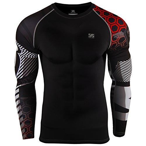 Zipravs MMA Kompressions-Shirt, langärmelig XL ZCDS-080