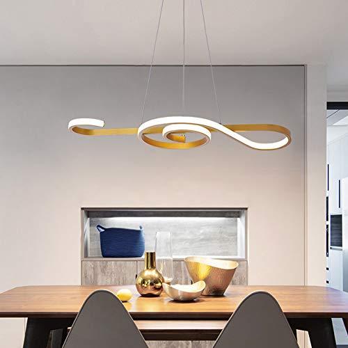 LED Pendelleuchte esstisch Pendelleuchte Weiß Hängeleuchte 60W Dimmbar mit Fernbedienung Hängelampe Arbeitszimmer, Wohnzimmer, Küche, Pendellampe Kronleuchte