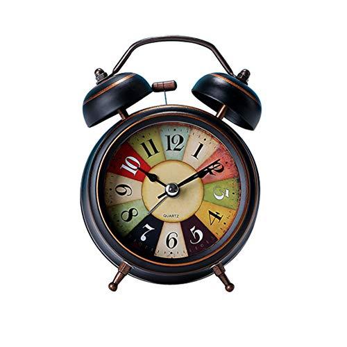 Reloj despertador retro de estilo antiguo, reloj despertador