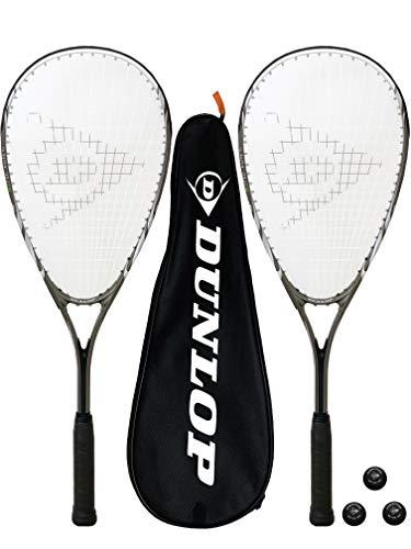 Dunlop Biotec X-Lite Series Raquetas de Squash x 2 + Fundas y...