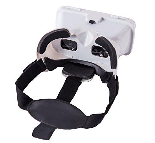 『KAWOE 3DVRゴーグル 3DVRメガネ 仮想現実体験 超3D映像効果 焦点/瞳孔距離調節可能 映画ゲーム用 ホワイト』の8枚目の画像