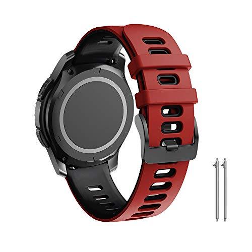 ANBEST Silikon Armband Kompatibel mit Galaxy Watch 46mm/Galaxy Watch 3 45mm/Gear S3 Frontier Armbänder, Weiches Sport Uhrenarmbänder für Vivoactive 4/Huawei Watch GT 46mm Smart Watch