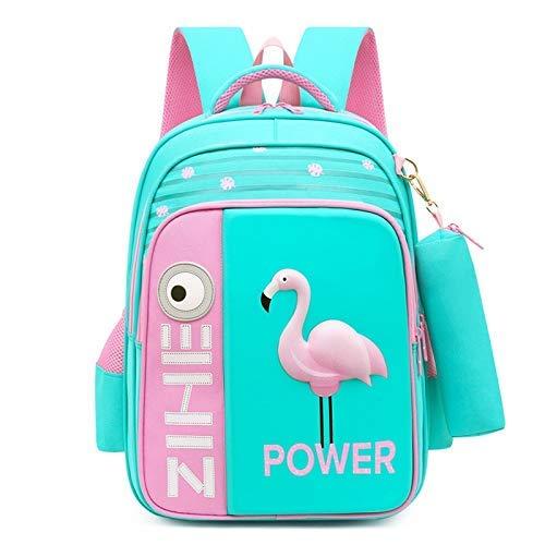 min min Mochila Bolsa de la Escuela 3D Flamingo Mochila Bolsa de la Escuela Chica Muchacha de Dibujos Animados Mochila para niños Mochila ortopédica 3-5 Grado