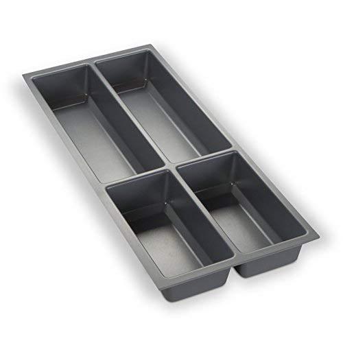 Besteckeinsatz silbergrau für 30er Schublade z.B. Nobilia ab 2013 (473,5 x 194 mm) Besteckkasten ORGA-BOX III