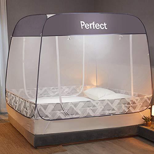 ZEMER Folding Mosquito Net, Draagbare Pop up Tent Mesh Luifel Gordijnen met Bodem voor Bed Home Slaapkamer Outdoor Camping voor Babys Volwassenen Reis