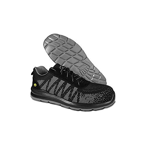 Zapatos de Seguridad Homologados Indra S3 Gris BeeWork. Suela Antiestática y Puntera Fibra Vidrio. Calzado de Trabajo Deportivo Unisex