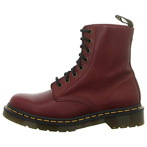 Dr. Martens Womens 1460 Pascal Wanama Ankle Fashion Smooth Leather Boots - Cherry - 8.5