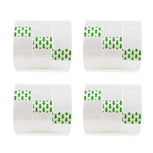 Transparent Tape Refills for Dispenser 12 Rolls 0.7 Inches