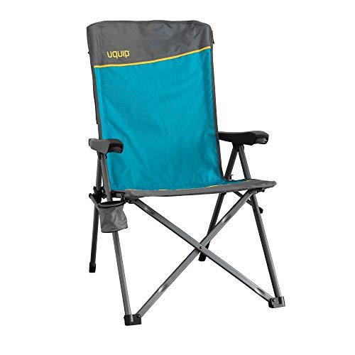 Uquip Klappstuhl Justy - Campingstuhl mit Verstellbarer Rückenlehne
