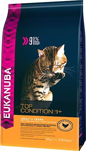Eukanuba Premium Katzenfutter, 100{98607c913bf35a3cdb49db9ff669cc9111fde0a12a74c63765c6fc9da82d0211} ausgewogenes Trockenfutter mit viel Huhn, abgestimmt auf erwachsene Katzen, 2 kg