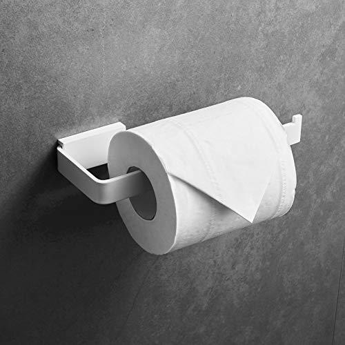 QSCTYG Portarrollos Papel Higiénico Cuarto de baño Papel higiénico Titular Negro montado...