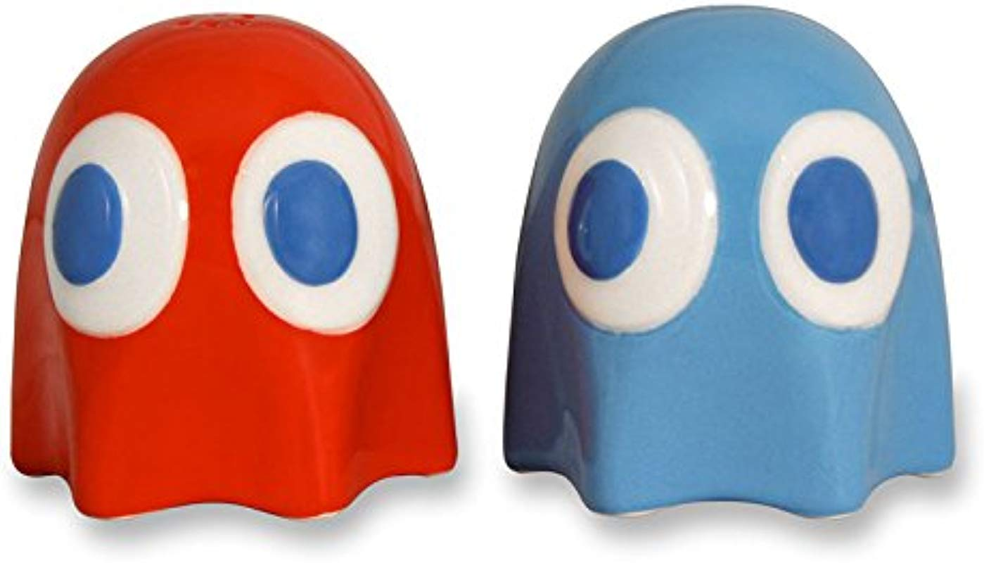 Pacman Ghost Salt And Pepper Pots