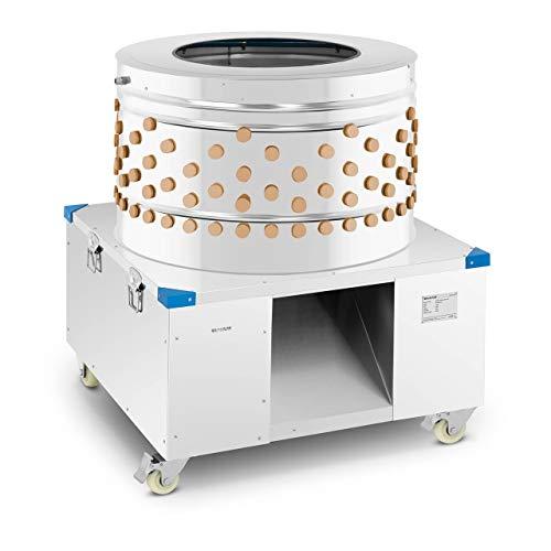 Wiesenfield WI-PPM-80 Rupfmaschine 2.200 W 900 kg/h Edelstahl Ø 80 cm Geflügelrupfmaschine 211 Rupffinger Wasseranschluss