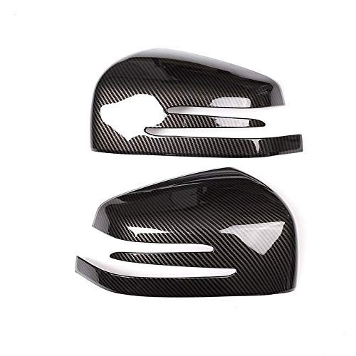 ZZMOQ para Mercedes Benz ML GL 2013 16 GLE GLS Clase 15 17, ABS de Fibra de Carbono, Lado del Coche, Espejo retrovisor, Tapa, Cubierta, Pegatina