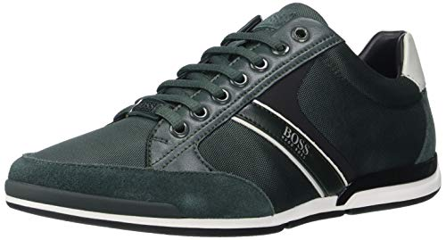 Hugo Boss Herren Saturn Profile Low Top Sneaker Turnschuh, Grün, 40 EU