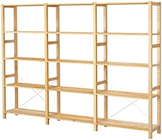 Ikea 3 section shelving unit, pine, 102x11 3/4x70 1/2