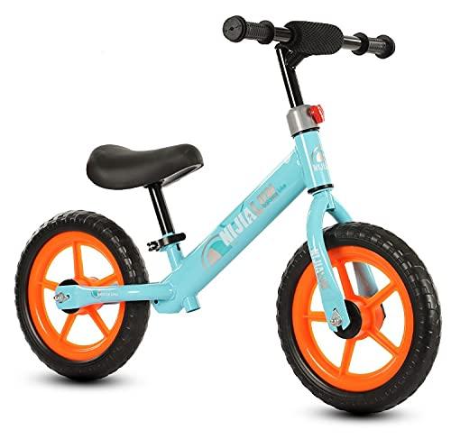 Guaisi Bicicleta de Equilibrio para niños Bicicleta de Entrenamiento Bicicleta para niños Sin Marco de Acero al Carbono Bicicleta de Pedal Primera Bicicleta para niños de 2 a 6 años