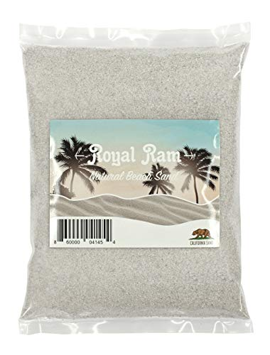 Royal Ram 2 Pounds Natural California Sand - for Interior Decor, Vase Filler, Sand Crafts and More